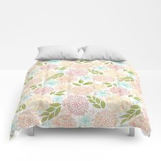 Our comforters are cozy, lightweight pieces of sleep heaven. Designs are printed onto 100% microfiber polyester fabric for brilliant images and a soft, premium touch. Lined with fluffy polyfill and available in king, queen and full sizes. Machine washable with cold water gentle cycle and mild detergent. #comforters #bedding #homedecor #floral