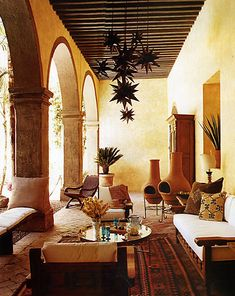 Beautiful Moroccan outdoor space! #Interiordesign #Decor #Lanterns #Tiles #Moroccan. www.mycraftwork.com.