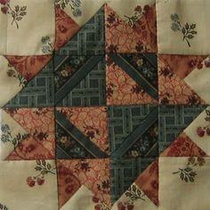 Clara Barton Quilt Block Barbara Brackman Civil War Quilt