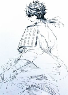 Manga Illustration, Illustrations, Touken Ranbu, Manga Art, Anime Art, Mutsunokami Yoshiyuki, Character Art, Character Design, Handsome Anime Guys