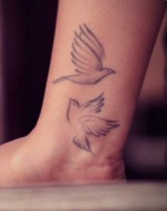 """Two Turtle Doves Tattoo Inspiration >> represents: eternal friendship & love 