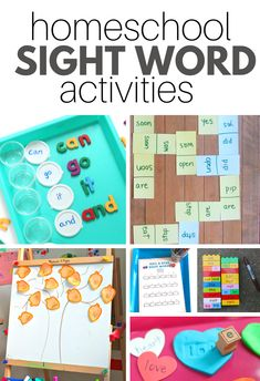 Homeschool Sight Word Activities – No Time For Flash Cards Make learning sight word list fun with these engaging homeschool sight word activities for prek, kindergarten, and first grade. Sight Word Flashcards, Sight Word Games, Sight Word Activities, Letter Activities, Phonics Activities, Phonics Centers, Kindergarten Sight Words List, Teaching Sight Words, Homeschool Kindergarten