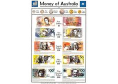 Money of Australia Chart An inexpensive resource, designed to help children both recognise and learn about Australian currency.