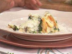Vegetales grillados, Lasagna verde con queso de cabra. El gourmet
