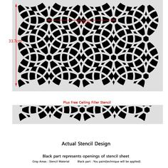 Amazon.com: J BOUTIQUE STENCILS Wall Wall Stencil Geometric Allover Decorative Pattern Bianca for Wall Paninting Room Decor