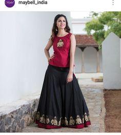Long Gown Dress, Lehnga Dress, Lehenga Skirt, Dress Skirt, Half Saree Designs, Lehenga Designs, Indian Designer Outfits, Designer Dresses, Designer Wear