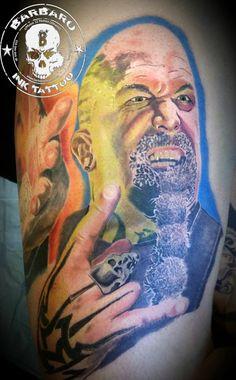 #tattoo #tattooist #tattooed #bestspaintattooartist #colortattoo #coloraward #kerryking #kerrykingtattoo #slayer #slayertattoo