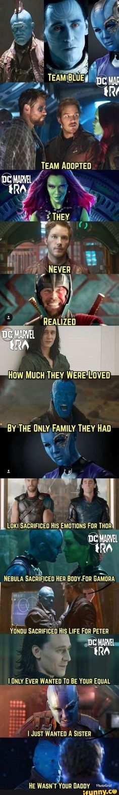 """fall memes Loki was adopted, not Thor. Nebula didn't *willingly* sacrifice her body for Gamora. Gamora beat her fair and square, Thanos """"upgraded"""" Nebula effectively as punishment, and Nebu Marvel Avengers, Hero Marvel, Funny Marvel Memes, Marvel Jokes, Dc Memes, Avengers Memes, Marvel Dc Comics, Funny Memes, Funny Quotes"""