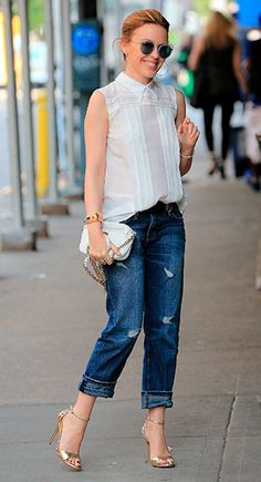 Boyfriend jeans and heels * What I Would Wear * The Inner Interiorista