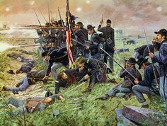 Not a Man Wavered by Dale Gallon: 1st Minnesota at Gettysburg, July 2, 1863