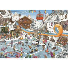 Shop Spilsbury's jigsaw puzzle store for kids and adults! This winter resort puzzle by Jan van Haasteren measures x