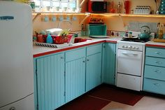 retro kitchen, vintage kitchen