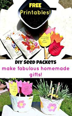 Garden of Love and Flowers; DIY Seed Packets with Free Printable Template