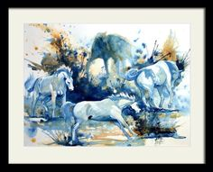 Aquarelle chevaux