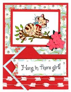 Hang in There Girl Card & DIY Directions from GreatImpressionsStamps.com