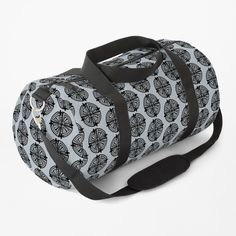 """""""Haven Troubled Guard Tattoo Black Logo"""" Duffle Bag by HavenDesign   Redbubble Duffel Bag, Tote Bag, My Boutique, Work Travel, Black Tattoos, Shoulder Strap, Tattoo Designs, Just For You, Baggage"""