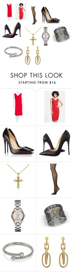 """""""Deborah Norville's outfit on NBC's Today Show's 60th anniversary"""" by terrence-michael-clay on Polyvore featuring Valentino, Nicole Miller, Christian Louboutin, Belk & Co., Calvin Klein, Michael Kors, Bohemme, ABS by Allen Schwartz and Paige Novick"""
