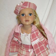 American Girl Doll Clothes 6 PC Pink Plaid by HauteDesignsByNorine, $49.00