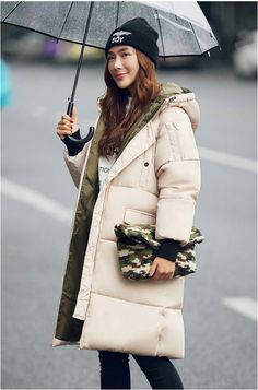 2015 Winter Women Parka Outerwear Down Cotton Wadded Jacket Hoody Plus Size L XXXL Luxury Thickening Long Coat Female-in Down & Parkas from Women's Clothing & Accessories on Aliexpress.com   Alibaba Group US $71