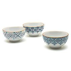 Disneyland Paris Azul Collection Bowls, Set Of Three | Disney StoreFree Delivery - Our Azul Collection bowls are the perfect size for snacks, and great for sharing. They each feature a different pattern in green and blue, with subtle Mickey Mouse silhouettes incorporated into the design.