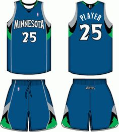 7ae9c2cd2 Minnesota Timberwolves Road Uniform 2009-2010 Minnesota Timberwolves