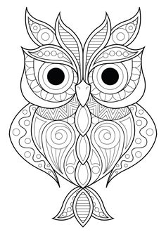 Mandala Owl Coloring Pages. 30 Mandala Owl Coloring Pages. Free Cute Owl Coloring Page Spring Coloring Pages, Pattern Coloring Pages, Printable Adult Coloring Pages, Mandala Coloring Pages, Coloring Pages To Print, Coloring Books, Free Coloring, Adult Colouring Pages, Kids Coloring