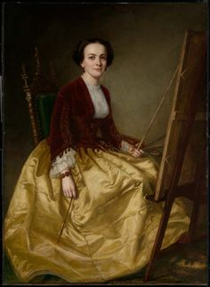 """Mrs. Charles Morey George Peter Alexander Healy 1855 Painting - oil on canvas Museum of Fine Arts - Boston (United States) Image via the Athenaeum"""