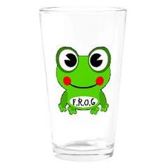 Cute Cartoon Frog Fully Rely On God F.R.O.G. Drink> Cute Fully Rely On God F.R.O.G.> F.R.O.G. FULLY RELY ON GOD GIFTS Google Weather, Green Frog, Frog And Toad, Religious Gifts, Big Eyes, Frogs, Cute Cartoon, Painted Rocks, Kisses