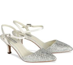 Wedding Dresses, Bridesmaid Dresses, Prom Dresses and Bridal Dresses Benjamin Adams Shoes - Style Gisele [Gisele] - Benjamin Adams Shoes, Spring A pointed toe that is encrusted with crystals and halter back fastening. Bling Wedding Shoes, Wedding Shoes Online, Wedding Pins, Bridal Shoes, Bridal Dresses, Bridesmaid Dresses, Prom Dresses, Crystal Shoes, Gisele