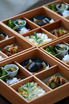 Japanese Bento for Early Summer. - This is so beautiful that it doesn't fit on any other board and by pinning this photo I'm reminding myself to learn to eat more mindfully.