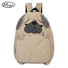 af52626fd19d 2016 Japanese cute cartoon animals backpack school bags for girls larger  capacity corduroy backpack high school