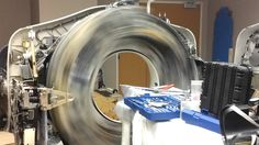 A look inside a ct scanner while it is spinning