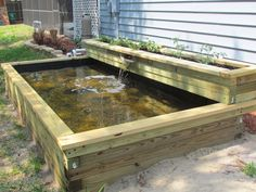 DIY Water Garden Ideas: Pond Garden Ideas and Design Inspiration – Diy Craft Ideas & Gardening how often should you water vegetable gar. Ideas Estanque, Craft Ideas, Pond Ideas, Above Ground Pond, Raised Pond, Raised Planter, Goldfish Pond, Turtle Pond, Diy Pond