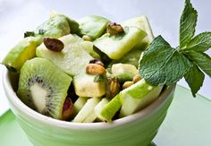The best of all things green -- a Mint-Lime Spring Green Fruit Salad!     http://blogs.babble.com/family-kitchen/2011/03/05/mint-lime-spring-green-fruit-salad/