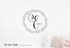 Hand Drawn Style Floral Boutique Logo Design for artisan boutique branding, e-commerce website logo, wordpress blog logo, boutique logo, photography branding, wedding logo, website branding design.