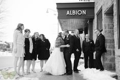 Wedding Party Winter Portraits   Downtown Guelph   Guelph Wedding Photography   Ashley Renee Photography