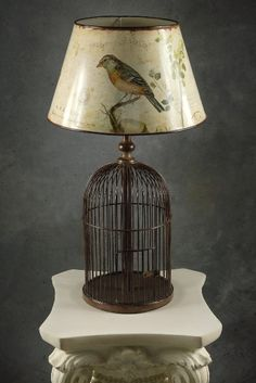 Vintage Wire Bird Cage Table! I seriously need this!!! ;)