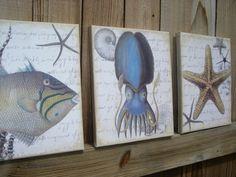 Coastal Decor Art Canvas Trio B | Flickr -