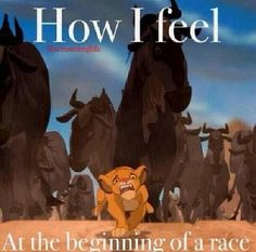How I feel at the beginning of a race