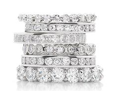 Hello push presents...one for each child http://www.diamondgallerysd.com/wp-content/uploads/2012/09/Moissanite_Eternity_Stack.jpeg