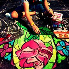 Disney chalk art