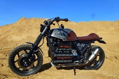 Find out more about just a few of my most favorite builds - handpicked scrambler hybrids like Bmw K100 Scrambler, K100 Bmw, Scrambler Motorcycle, Bmw Motorcycles, Custom Motorcycles, Vintage Cafe Racer, Bmw Vintage, Vintage Bikes, Bobber
