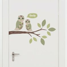 Woodland Wall Stickers for your little one's Nursery or Bedroom. Door Stickers, Wall Decor Stickers, Wall Decals, Woodland Room, Baby Owls, Baby Boy, Small Leaf, Little Critter, Looking Gorgeous