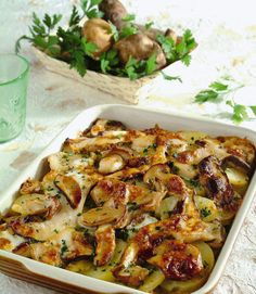 IN CUCINA CON MARY: Teglia di funghi porcini e patate