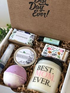 Best Mom Ever Birthday Gift for Mom Present for Mother All Natural Stepmother Spa Box New Mom Gift Ideas Diy Gifts For Girlfriend, Diy Gifts For Mom, Diy Gifts For Friends, Gifts For New Moms, Boyfriend Gifts, Easy Gifts, Present For Mom, Simple Gifts, Unique Gifts