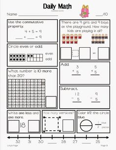 Lots of Free Printable Kindergarten and Pre-K Skill Sheets