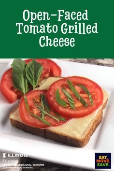 Easy and delicious!  The fresh basil is a must! #grilledcheese #tomato #easylunch #lunch