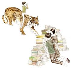 Book Tiger Illustration Illustrator Art Print Sketch Artist Julie Morstad Children