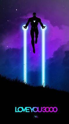Love You 3000 Iron Man Neon Art iPhone Wallpaper - iPhone Wallpapers