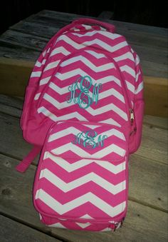 Lunch Bag Monogrammed by KayKreations2012 on Etsy, $20.00